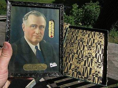 1934 Roosevelt Calendar & Thermometer Salesmans Sample #668 For Ordering From