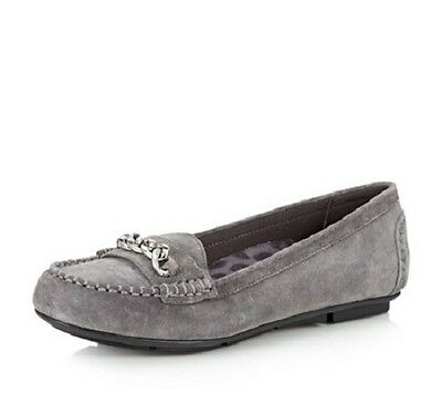 34d0af03480 Vionic Womens Chill Mesa Orthotic Suede Moccasins w  Chain Grey SZ 11 W