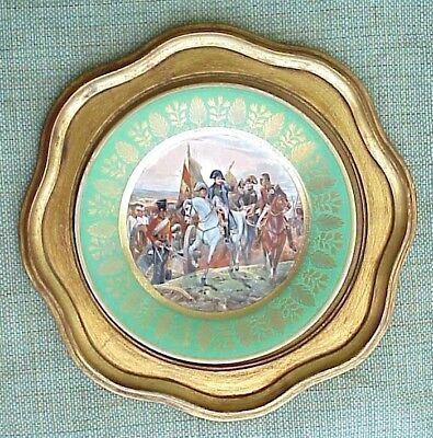 1850. French Porcelain Napoleon Army Military Bataille Friedland War Award Plate