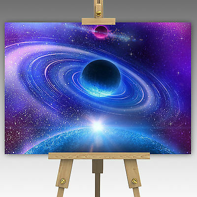 Solar System Planets In Space Cosmic Image Wall Art Canvas Picture Print A1, A0