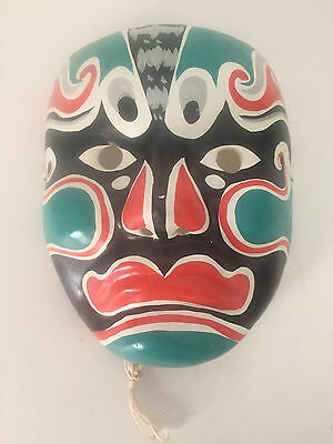 Chinese Beijing Opera Hand Painted Facial Mask - Green