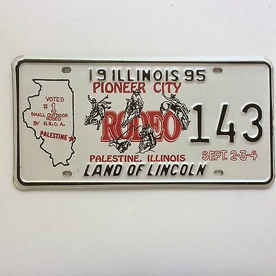 Illinois 1995 Bull Riding License Plate Garage Special Event Rodeo