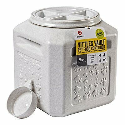 Dog Food Storage Vault Container Pet Cat Airtight Bin Fresh Vittles 25 lb