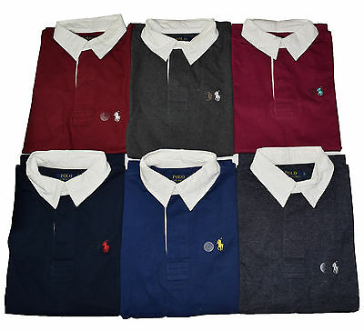 Custom Fit Small Pony Ralph Lauren Short Sleeve Rugby Polo T Shirt for Men