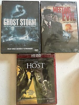 Horror Movie Lot 3 Movies Ghost Storm Meeting Evil The Host DVD