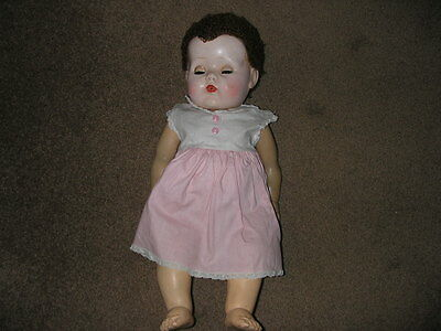 Vintage Tiny Tears Doll with Clothes/ Pipe and Bottle