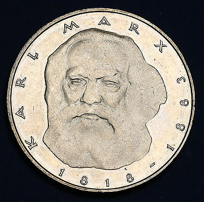 1983 J Germany 5 Mark KM# 158 Karl Marx aUNC Coin