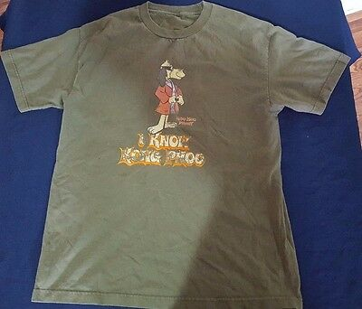 Hanna Barbera Hong Kong Phooey I Know Kong Phoo Green Large Mens Shirt