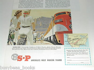 1951 Southern Pacific Lines, ad, Golden State train