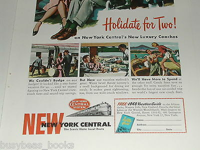 1948 New York Central Railroad ad, Water Level Route