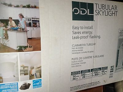 "ODL 14"" Tubular Skylight Complete Kit Dome NEW"