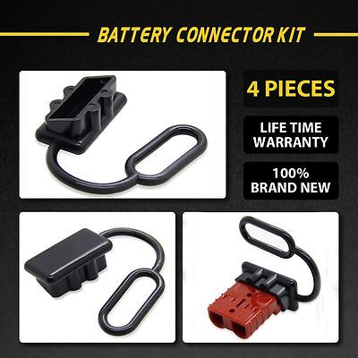 4Pcs Circuit Rubber Ring 50AMP 12-24V Battery Caravn Dust Cap Connector Cover