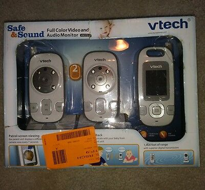 Vtech VM312-2 Safe & Sound Video Baby Monitor with Night Vision Two Cameras K2