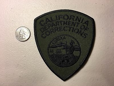O/S California Department Of Corrections Officer Police Patch Swat Subdued Ca