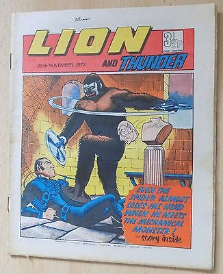 LION and THUNDER Comic - Issue Dated 25th November 1972