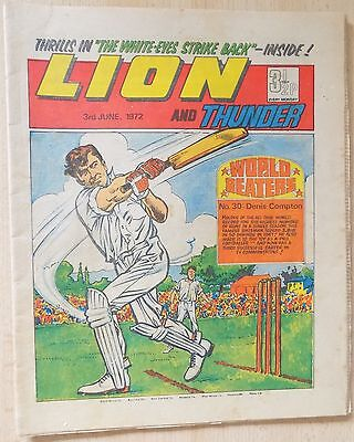 LION and THUNDER Comic - Issue Dated 3rd June 1972