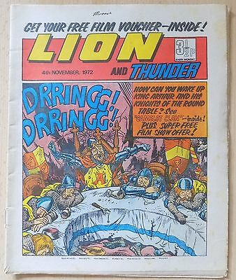 LION and THUNDER Comic - Issue Dated 4th November 1972
