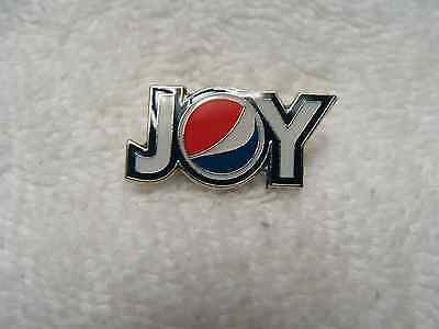 "NEW Pepsi Cola Soda Pop ""JOY of Cola"" Lapel Hat Push Pin Collector  Rare VHTF"