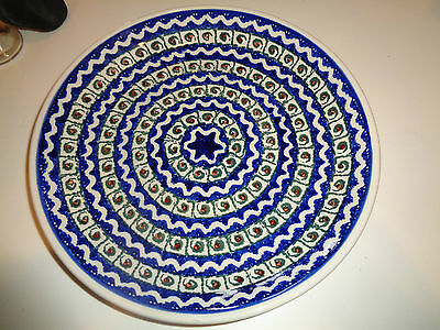 "Polish Pottery 10.5""  inch plate Excellent condiiton."