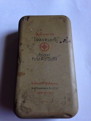 Vintage Forest Service Pocket First Aid Outfit in Metal Box