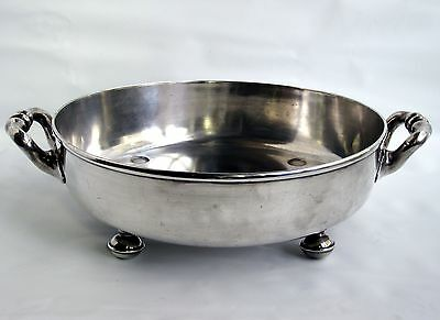 Antique English ELKINGTON Victorian Silverplate Footed Serving Bowl 1860