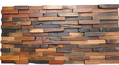 Wood Wall Tiles, Rustic, Vintage, Reclaimed, Wooden Wall Decor, Decorative Tiles