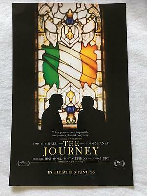 "THE JOURNEY - 11""x17"" Original Promo Movie Poster 2017 Timothy Spall Colm Meaney"