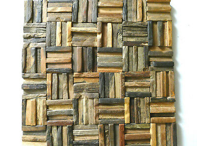 Wood Wall Tiles, Wall Covering Panel, Decorative Tiles, Old Wood Rustic Tiles