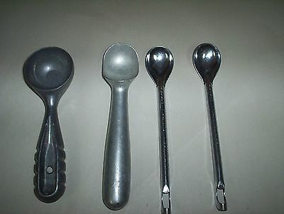 Vintage Nuroll Maumee OH & Unbranded Ice Cream Scoop & Graham Sundae Spoons Lot