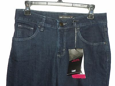 c75f648e Lee Classic Fit Straight Leg Denim Jeans Stretchy Size 4 Petite NEW with  Tags