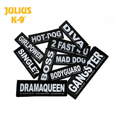 Julius-K9® Labels Velcro for Dog Harnesses Belt Harness Guide Harnesses Collars