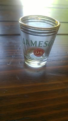 Jameson Irish Whiskey shot glass Irish bar glass gold rim