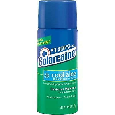 Solarcaine Aloe Vera Spray 4.5 Oz Sunburn Relief