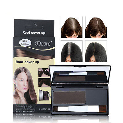 DEXE Hair Color Root Cover Up Powder Brush Dye Temporary Hair Dye Coloring Cream