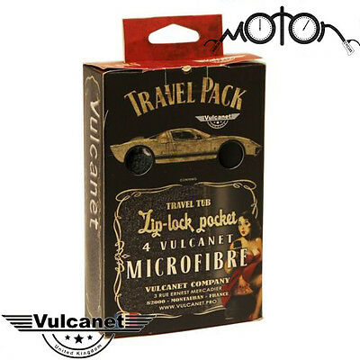 Vulcanet Travel Kit Motorcycle Cleaning Wipes Waterless System Microfibre Cloth