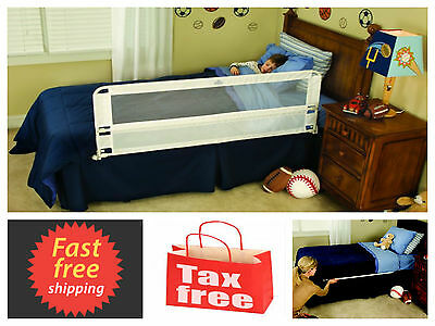 Hide Away Extra Long Bed Rail Safety Child Swing Toddler Infant Guard White 54""