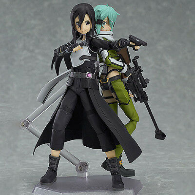 2 PCS Sword Art Online SAO Asuna Kirito Action Figure Figma Figurine Toy Gift