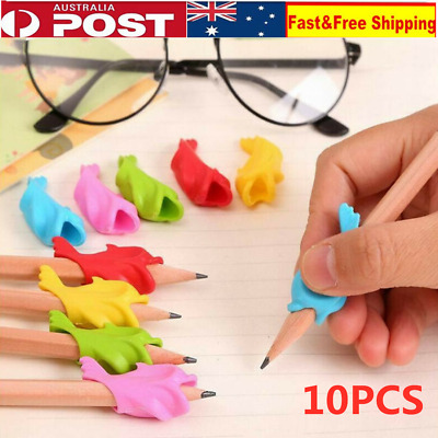 10Pcs Children Pencil Holder Writing Hold Pen Aid Grip Posture Correction Tools