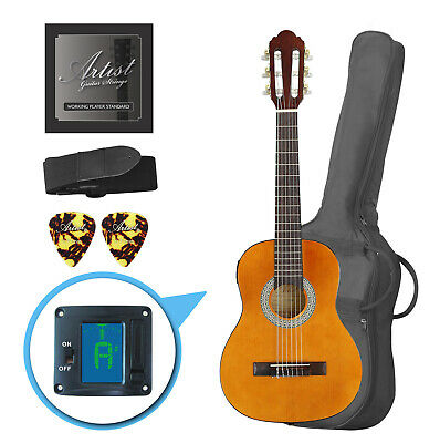 Artist CL14AM 1/4 Size Classical Guitar Pack, Nylon String - Amber - New