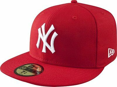 Rosso (Scarlet/White) (TG. 7) New York Yankees Cappy 59Fifty Mlb Basic Rot