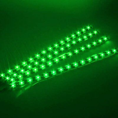 4x 15 SMD 12V LED 30cm Car Auto Flexible Grill Light Lamp Strip Waterproof Green