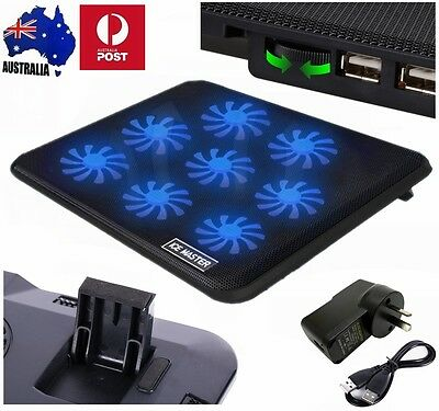 8Fans LED USB HUB Cooling Stand Pad Cooler for Alienware  Macbook Air 13""