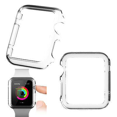 2pcs Soft Gel Case Covers Transparent Surround Protector For Apple iWatch 42mm