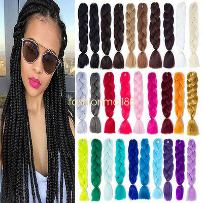 24inch Ombre Kanekalon Jumbo Twist Braiding Fiber Synthetic Hair Extensions Lots