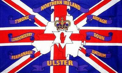 IRISH 6 COUNTIES FLAG 3' x 2' Northern Ireland County Londonderry Fermanagh Down