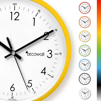 Decowall DSH-M22 Silent Non Ticking Modern Colour Metal Wall Clock Home & Office
