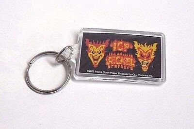New INSANE CLOWN POSSE Rap HIP HOP Lucite KEYRING Key JECKEL BROTHERS Fire Faces