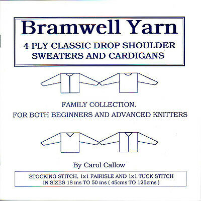 Knitting Machine Only 4 Ply Handy White Pattern Book For Brother & Knitmaster