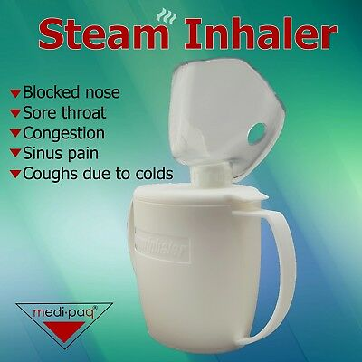 Steam Inhaler Blocked Nose Sinuses Coughs Colds Chest Infection Adult Child