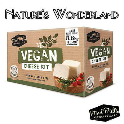 VEGAN CHEESE KIT Tapioca Flour Yeast choice of Nuts & kitchen Spices -Mad Millie